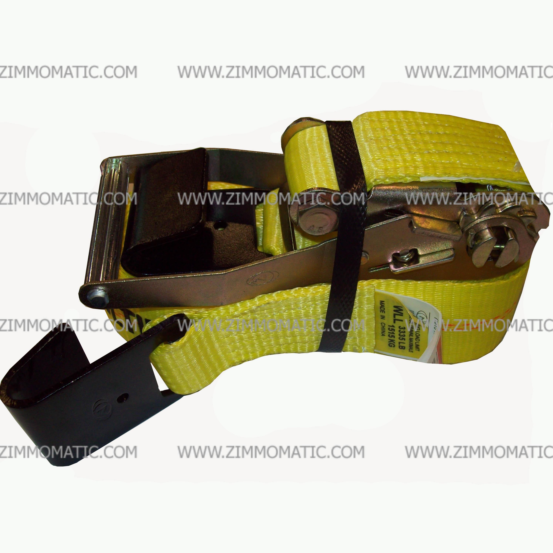ratchet strap, 2 inch x 27 foot, flat hook