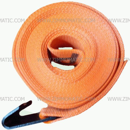 heavy duty orange winch strap, 4 inch x 30 foot