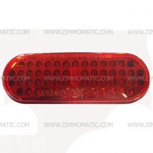 light, 2 x 6 inch oval, LED red, optronics