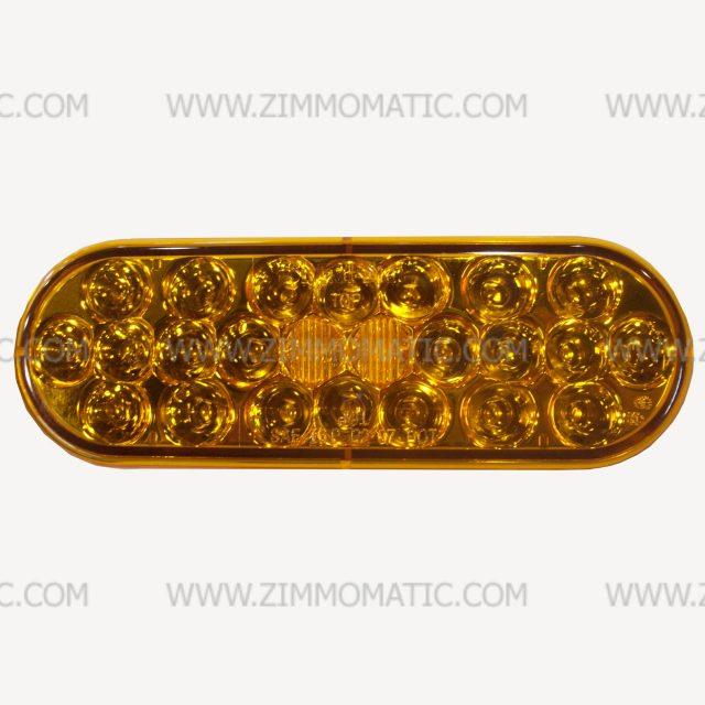 light, 2 x 6 inch oval, amber LED