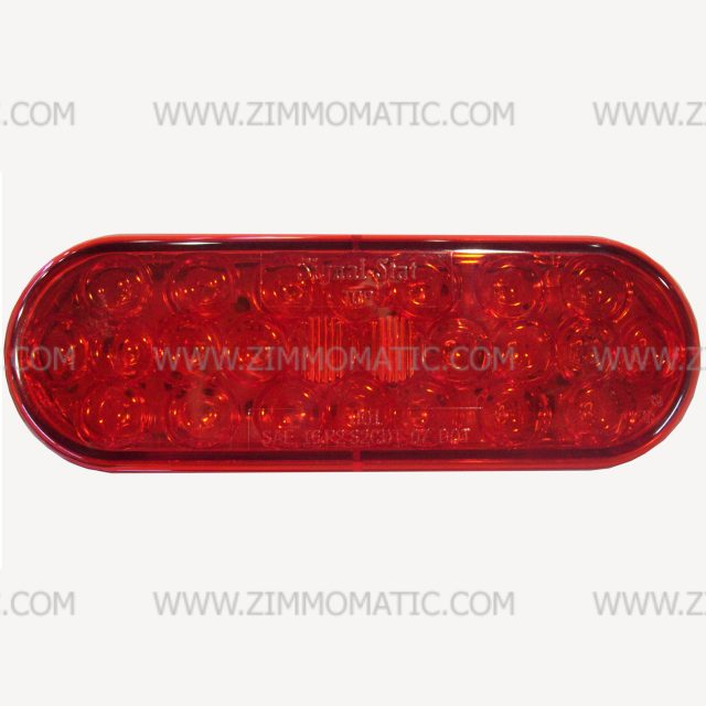 light, 2 x 6 inch oval, LED red