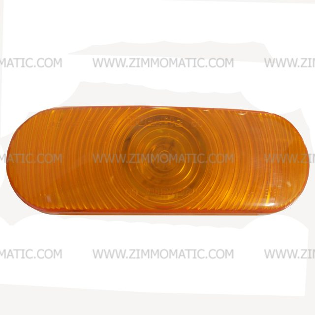 light, 2 x 6 inch oval, incandescent amber