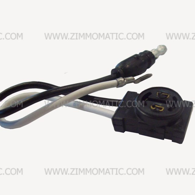 pigtail, 2 wire flat LED plug