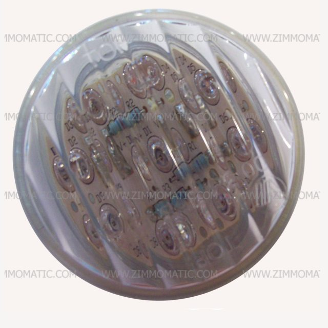 light, 2 inch clear lens led, amber