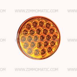 strobe, 4 inch round amber, LED