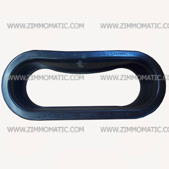 grommet, 2 x 6 inch oval rubber