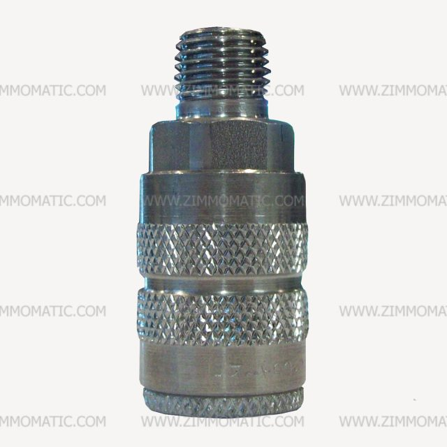stainless steel quick connect, 1/4 inch, female end, male thread