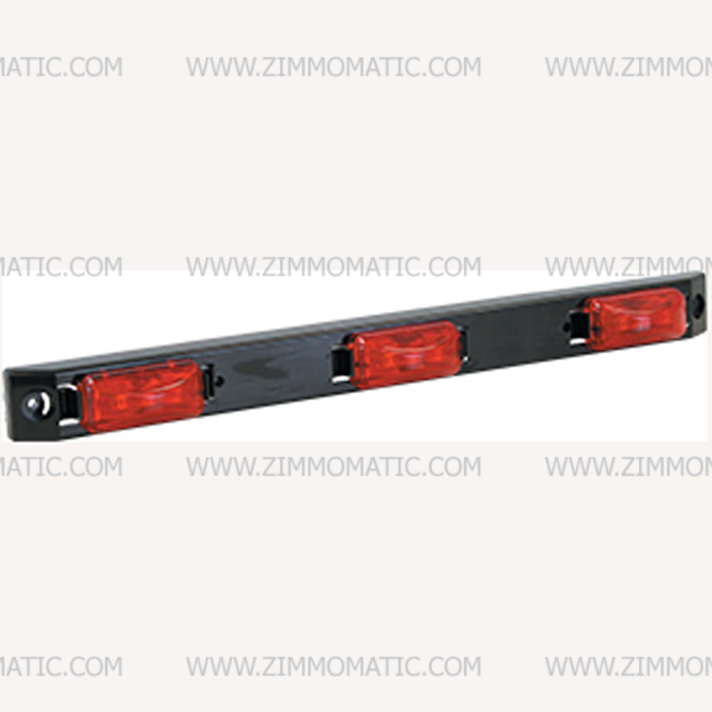 lightbar, 9 led red, plastic