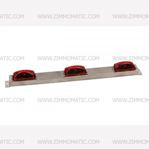 lightbar, 9 led red, stainless steel