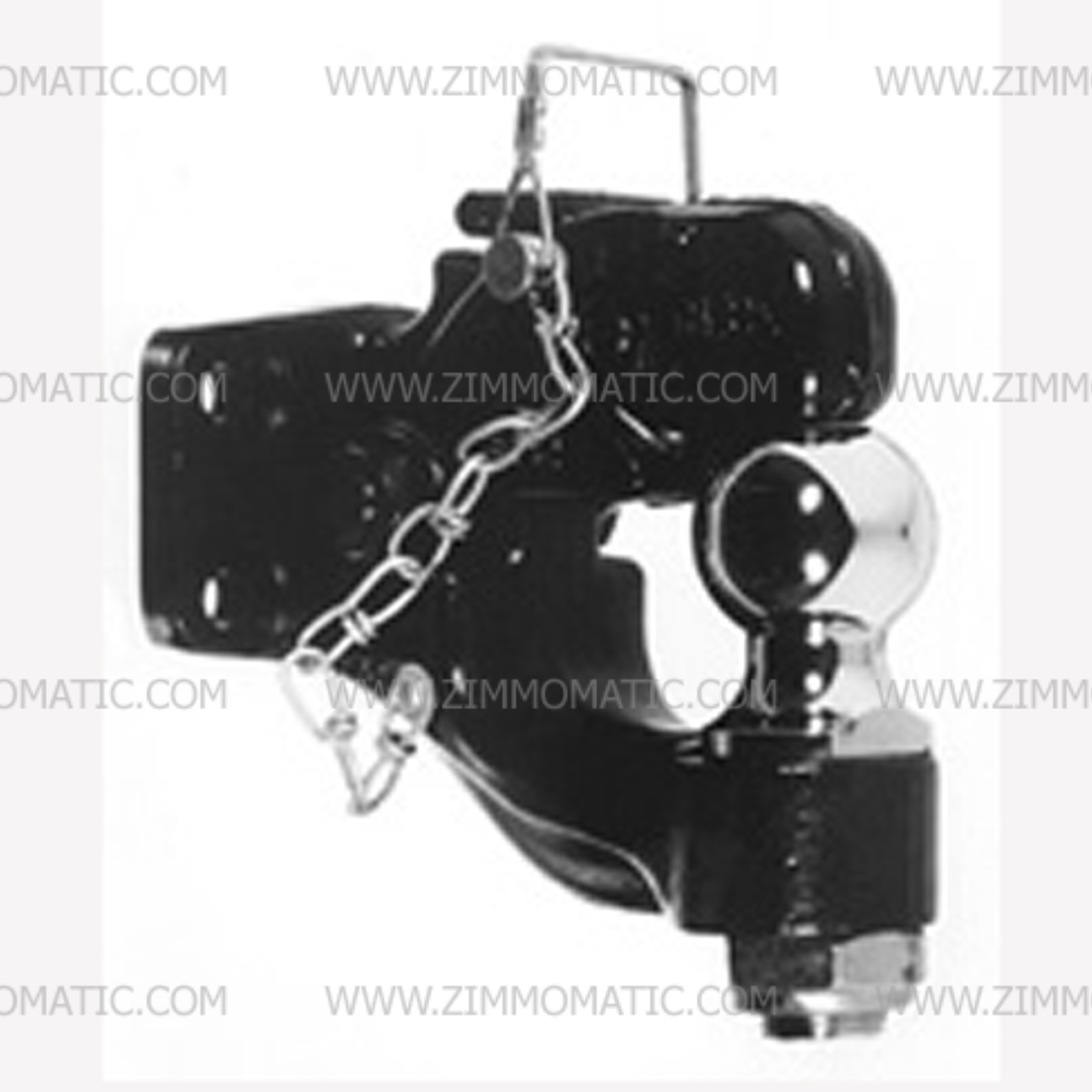 8 ton combination ball hitch, 2-5/16 inch ball