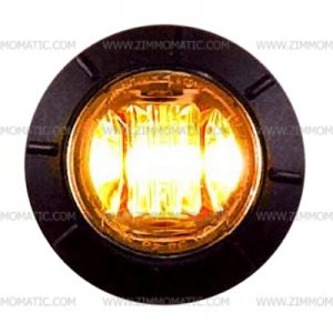 3/4 amber clear lens button light, maxxima