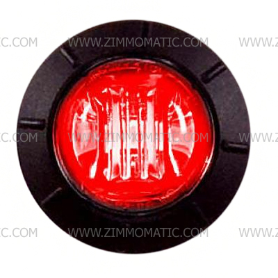 3/4 red clear lens button light, maxxima
