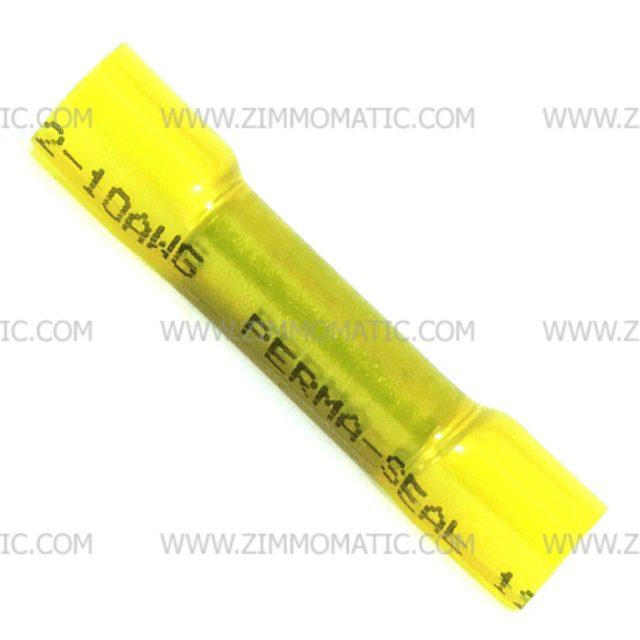 12-10 gauge yellow heat shrink/crimp butt connector
