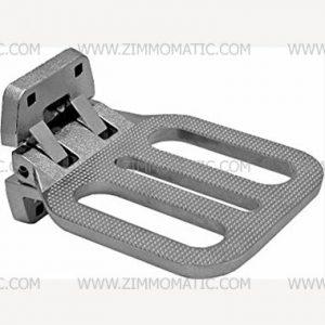 folding step, chrome-plated cast aluminum