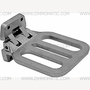 folding step, chrome-plated cast aluminum